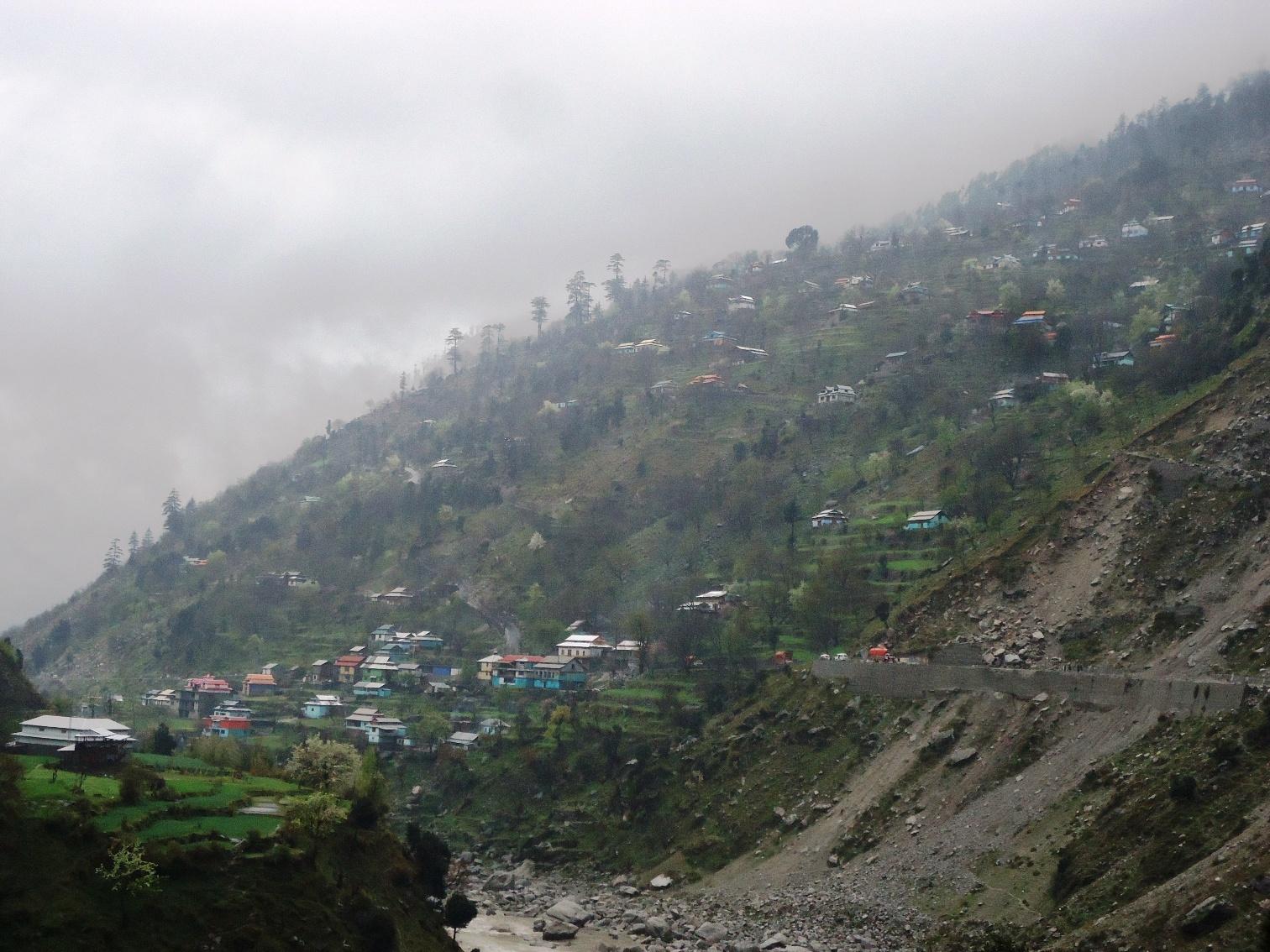 Land Sliding in Neelum Valley near Sharda
