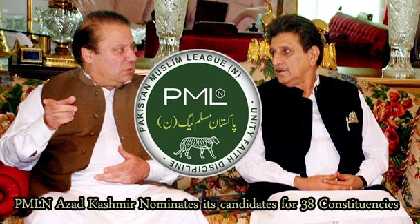 PMLN Azad Kashmir Nominates its candidates for 38 Constituencies